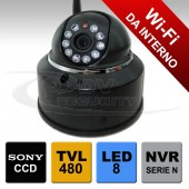 Telecamera IP wifi dome con 10 led