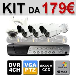 Telecamere e dvr nel kit videosorveglianza in offerta